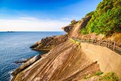 Onigajo海岸线在日本 库存照片