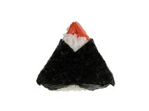Onigiri. Specific Japanese snack food-isolated over white background Royalty Free Stock Photography