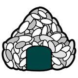 onigiri ball. Onigiri on a white background, Vector illustration Stock Images