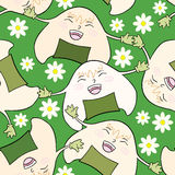 Onigiri with daisy. Stock Photo