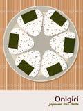Onigiri (japanese rice ball) with sesame seeds. Stock Image