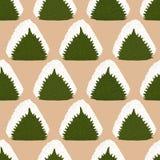 Onigiri in Perilla leaf. Seamless pattern. Royalty Free Stock Photo