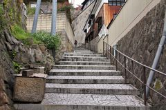 Onimichi. Old Town of Onomichi, Japan. Travel destination in Chugoku region stock photos
