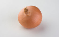 Onion. Brown round is good for salads Royalty Free Stock Image