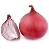 Onion. Red onion on white background stock photos
