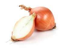 Onion. Half onion and onion on a white background