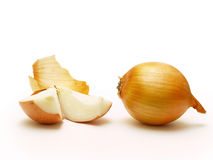 Onion. Close-up isolated on white background Stock Photos