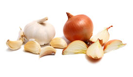 Onion And Garlic Royalty Free Stock Photography