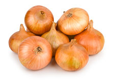Onion. Arrangement of few ripe fresh onions Royalty Free Stock Photography