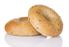 Onion Bagel Duo Stock Photo