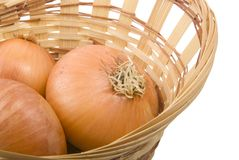 Onion in the basket Stock Image