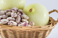 Onion and beans Stock Photo