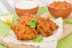 Onion Bhajis Royalty Free Stock Images
