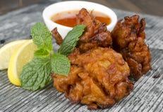 Onion Bhajis & Mint Raita Stock Photography