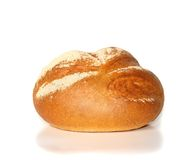 Onion bread. Loaf of onion bread isolated on the white background Stock Images