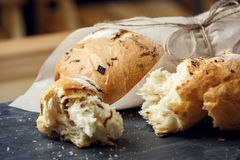 Onion bread loaf Royalty Free Stock Images