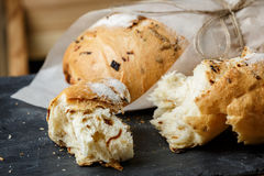 Onion bread loaf Stock Photo