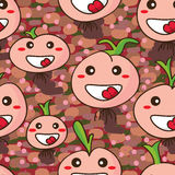 Onion cartoon happy seamless Royalty Free Stock Photo
