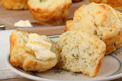 Onion Cheese Muffin Stock Images