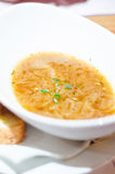 Onion and cider soup Royalty Free Stock Image