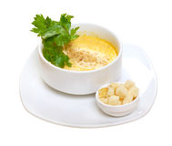 Onion Cream Soup Dressed Royalty Free Stock Photos