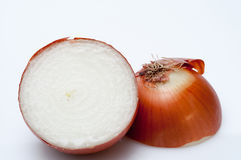 Onion cut Stock Image