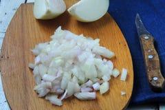 Onion diced Stock Photos