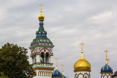 Onion domes and bell tower, Old Believers' Community, Monastery, Moscow Stock Photos