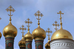 Onion Domes within the Kremlin Stock Images