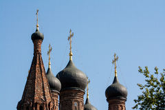 Onion domes, Krutitskoe Mission, Moscow Stock Image