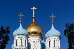 Onion domes, Novospasskiy Monastery, Moscow Royalty Free Stock Images