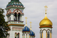Onion domes, Old Believers' Community, Monastery, Moscow Royalty Free Stock Photo