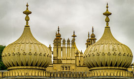A close up of the architecture of Brighton Pavilion domes royalty free stock photo