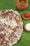 Onion dosa is typically South Indian pancake. Stock Photo
