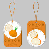 Onion drawing consisting of tag Royalty Free Stock Photo
