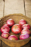 Onion. An edible bulb with a pungent taste and smell, composed of several concentric layers, used in cooking Stock Images