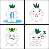Onion emotion cartoon Stock Image