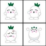 Onion emotion cartoon Stock Images
