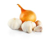 Onion end garlic Stock Photography