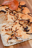 Onion focaccia Royalty Free Stock Photo