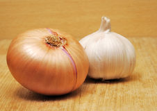 Onion and garlic Stock Image