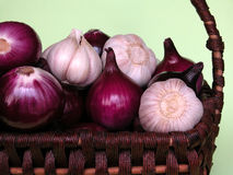 Onion and garlic Royalty Free Stock Image
