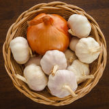 Onion and Garlic Royalty Free Stock Images