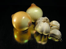 Onion and garlic Stock Photography