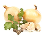 Onion and garlic Stock Photos