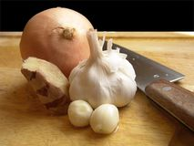 Onion, Garlic & Ginger Stock Image