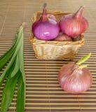Onion, Garlic and Pandan Leaves VI Royalty Free Stock Photos