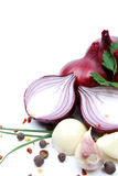Onion with garlic and spices Royalty Free Stock Photography