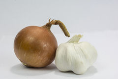 Onion and garlic Royalty Free Stock Photos