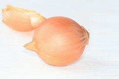 Onion and husks. Royalty Free Stock Image